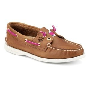 Sperry Topsider Tan Lexington Boat Shoes
